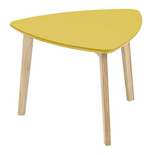 AC Design Furniture 60332 Ecktisch Mette, Tischplatte aus Holz, lackiert curry
