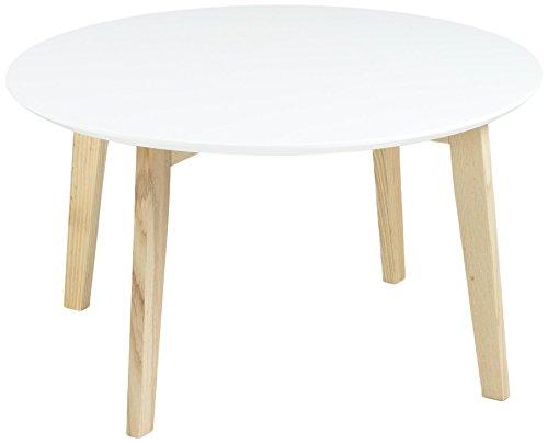 AC Design Furniture 60333 Couchtisch Mia, Tischplatte aus Holz, lackiert weiß
