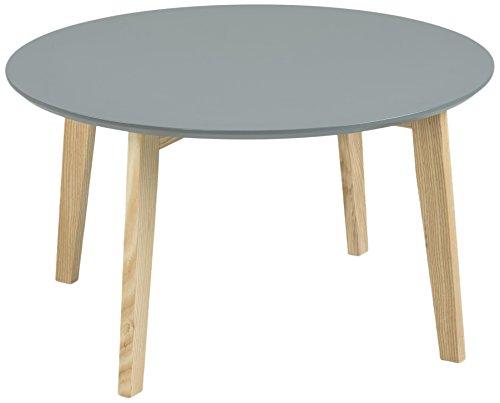 AC Design Furniture 60334 Couchtisch Mia, Tischplatte aus Holz, lackiert dunkelgrau