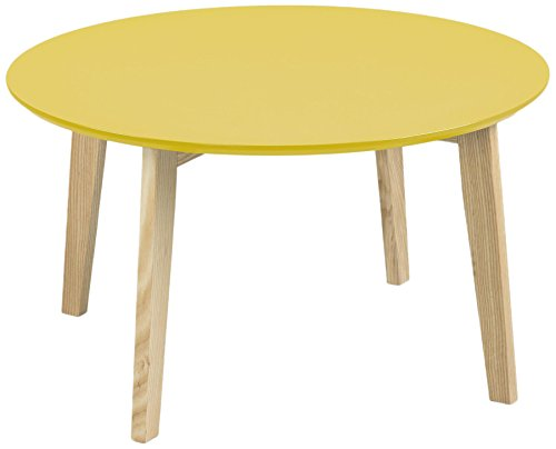 AC Design Furniture 60335 Couchtisch Mia, Tischplatte aus Holz, lackiert curry