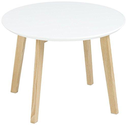 AC Design Furniture 60336 Ecktisch Mia, Tischplatte aus Holz, lackiert weiß