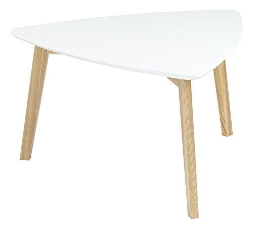 AC Design Furniture 60353 Couchtisch Mette, Tischplatte aus Holz, lackiert weiß