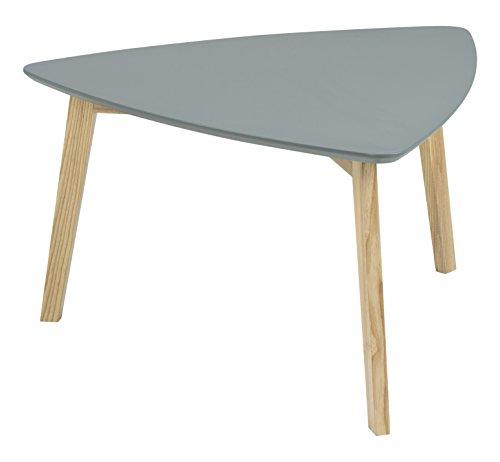 AC Design Furniture 60354 Couchtisch Mette, Tischplatte aus Holz, lackiert dunkelgrau