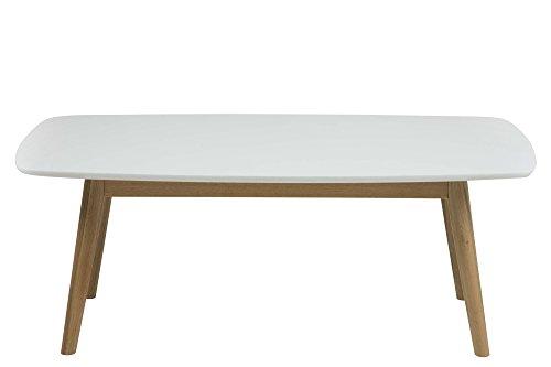 AC Design Furniture 62688 Couchtisch Pernille, 110 x 60 cm, Tischplatte aus Holz lackiert, weiß