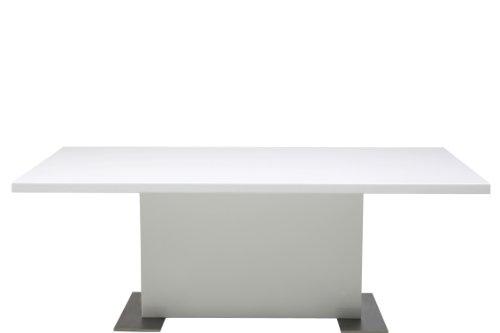 AC Design Furniture H000012580 Couchtisch Jonas, ca. 115 x 42 x 65 cm, weiß hochglanz