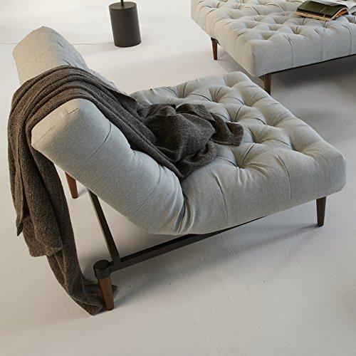 Innovation Klappsessel mit Holzbeinen Oldschool Styletto Textil hellblau