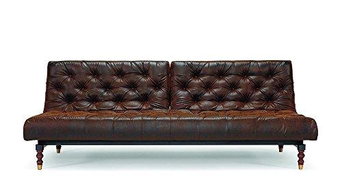 Innovation - Oldschool Schlafsofa - braun - Kunstleder - konisch - Per Weiss - Design - Sofa