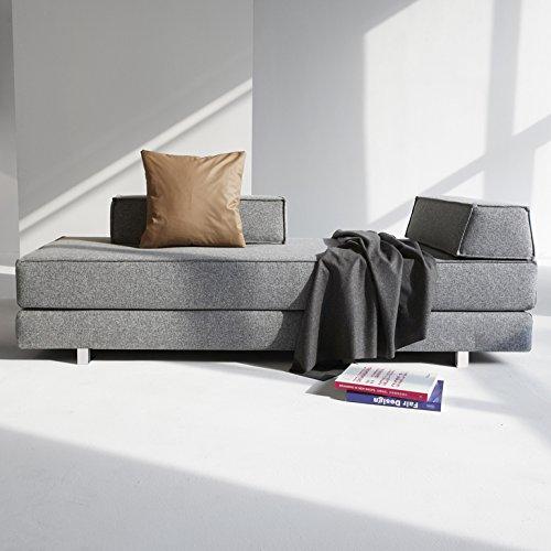 Innovation Schlafsofa DB Cube Idouble Alu Textil grau