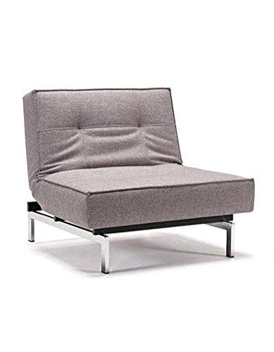 Innovation - Splitback Sessel - weiß - Kunstleder - Ulme dunkel, konisch - Per Weiss - Design - Sessel