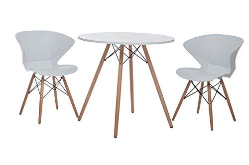 Sitzgruppe Ray, Designer-Tisch + 2 Stühle, Retro-Tisch mit 2 Stühlen