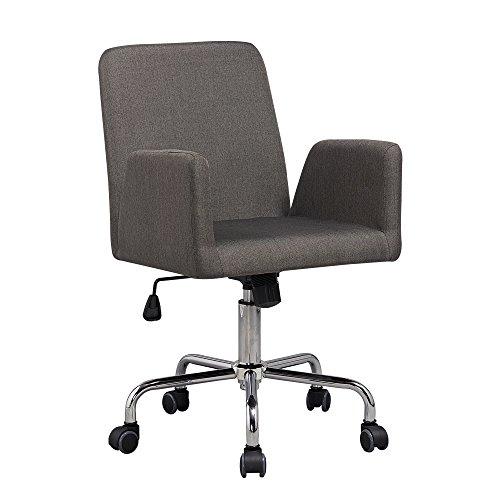 Bürostuhl Retro von 1stuff - DAS ORIGINAL! - Retrostuhl mit hochwertigem Leinen Bezug - grau meliert - Drehstuhl, Chefsessel, Schreibtischstuhl