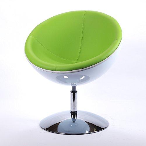 DESIGNER SCHALENSESSEL retro Möbel Lounge Cocktailsessel bequem gepolstert C13 weiß-grün