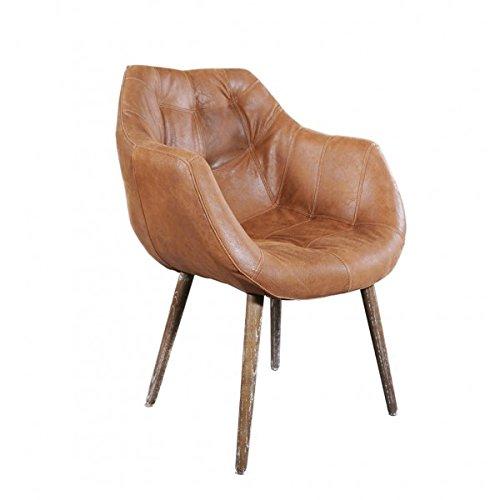 "Design Schalensessel ""Chuck Honey"" Vintage-Leder hellbraun"