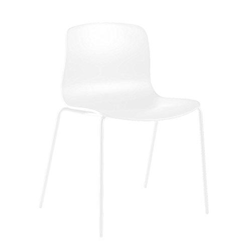 HAY About a Chair 16 Stuhl, weiß Gestell Stahl weiß mit Kunststoffgleitern