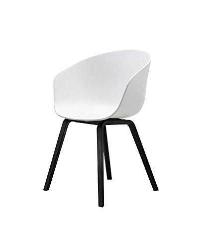 HAY - About a Chair AAC 22 - weiß - schwarz gebeizt - Hee Welling - Design - Esszimmerstuhl - Speisezimmerstuhl
