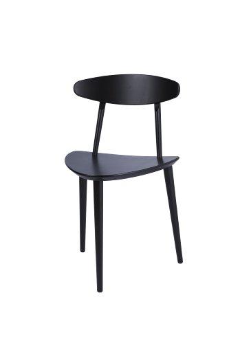 HAY J107 Stuhl, schwarz lackiert