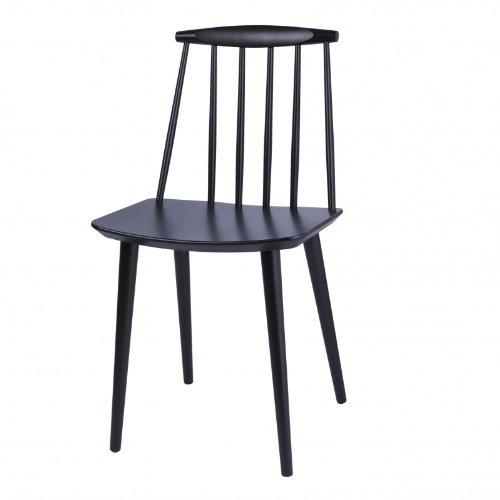 HAY J77 Stuhl, schwarz lackiert