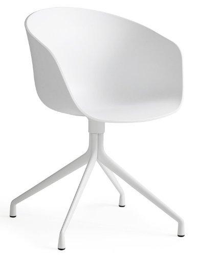 HAY Stuhl About a Chair AAC 20 - Sitz weiß - Gestell weiß, hay dk Hee Welling and Hay, Sitzschale Polypropylen - kunststoff weiss, Gestell Stahl weiss pulverbeschichtet, Esszimmerstuhl - Küchenstuhl - Speisezimmerstuhl, Bürostuhl