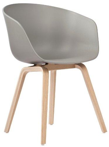 Hay AAC 22 about a chair Grau hay schalenstuhl eichenholz- vierbeingestell aac 22 grau design hee welling