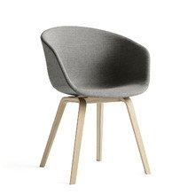Hay - About A Chair AAC 23, Holz-Vierbeingestell (Eiche geseift) / Vollpolster Remix grau (123), Kunststoffgleiter