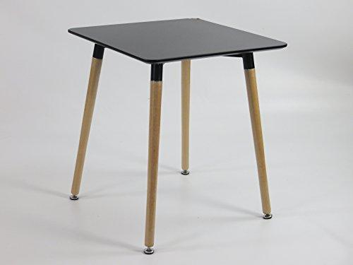 Inspiration Retro Tisch MDF 60x60 in Schwarz
