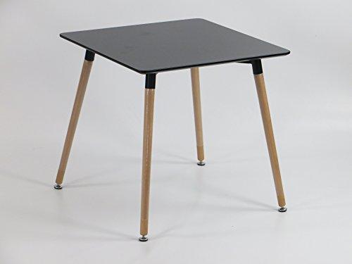 Inspiration Retro Tisch MDF 70x70 in Schwarz