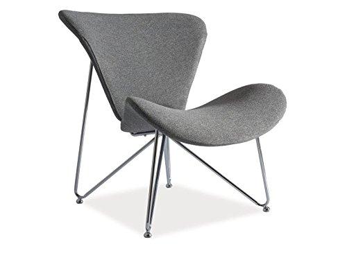 REST Retro Sessel Loft Industrial Design 2 Farben Chromgestell (Grau )