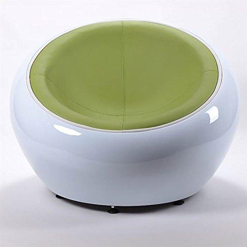 RIESIGER DESIGN LOUNGE BALL SCHALEN SESSEL von XTRADEFACTORY retro möbel stuhl C12 weiß-grün