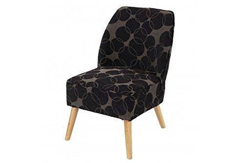 Retro Club Sessel schwarz grau Polstersessel Loungesesel Skandinavisches Design