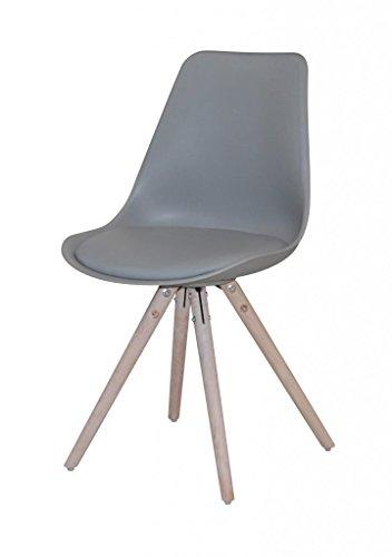 Stuhl WOODY Loungestuhl mit Schalensitz in grau
