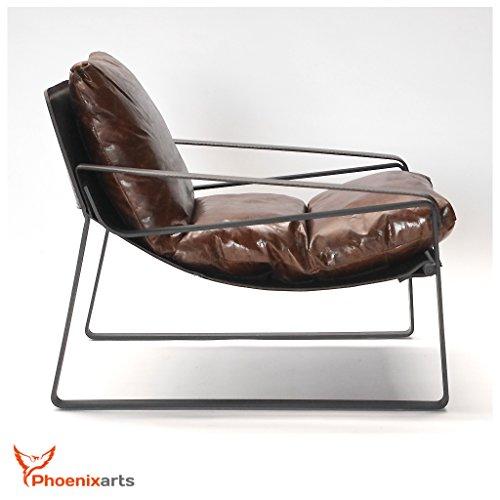 Vintage Relaxsessel Echtleder Sessel Design Lounge Ledersessel Clubsessel Sofa 457