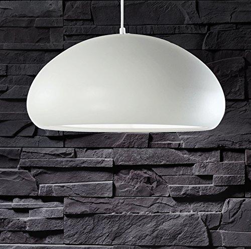 lounge-zone Design Pendelleuchte Pendellampe Hängeleuchte Leuchte CULE Schirm matt weiß rund 40cm 13076