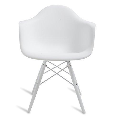 Stuhl DAW Stil–Inspiration Charles & Ray Eames–63cm x 61cm x 80cm–Santani MOBILI All White