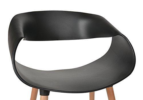 ts-ideen 1x Design Stuhl Wohnzimmer Esstisch Küchen Esszimmer Sitz Schwarz Holz Buche