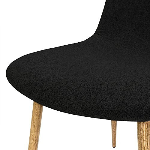 4x Design Stuhl mit Stoffbezug schwarz - Esszimmerstühle Stühle Designerstuhl