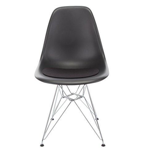 Hey-Sign Sitzaufl Eames Plastic Sidechair - V, Schwarz 02