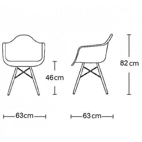 VERKAUF! 4 x Design-Stuhl Eiffel Stil Walnussholz Beine und Sitz Farbe Weiß Mobistyl® DAWD-WH-4