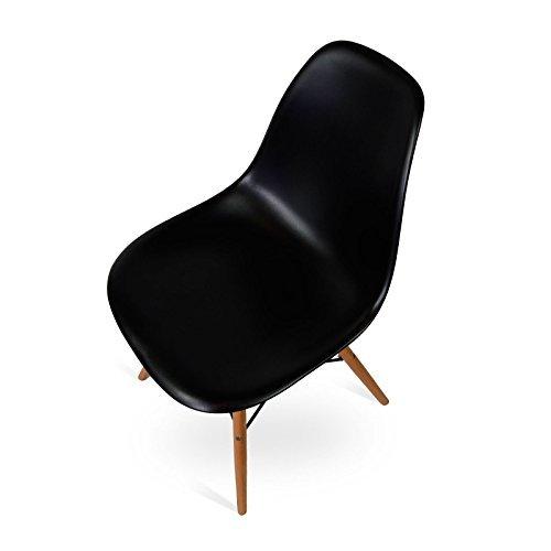 Stuhl Eames DSW style - Inspiration Charles&Eames - schwarz - 53,5 x cm 46,5 x cm 81,5 cm - SANTANI MOBILI