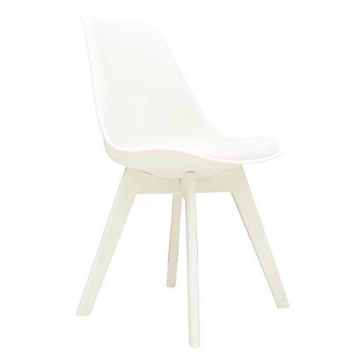 MOJO Design Stuhl Esstischstuhl Plastik Gestell in weiss S29