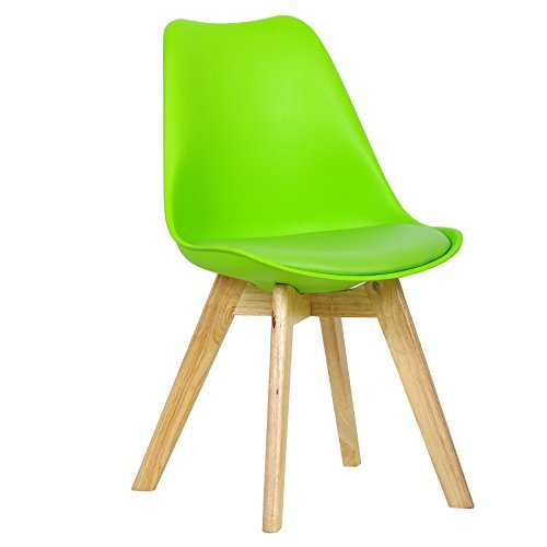 WOLTU 2 x Esszimmerstühle 2er Set Esszimmerstuhl Design Stuhl Küchenstuhl Holz Neu Design BH29gn-2-a Grün