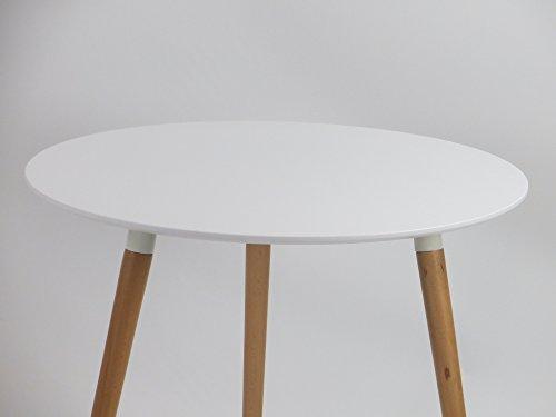Inspiration Retro Tisch MDF 60x60 in Weiß
