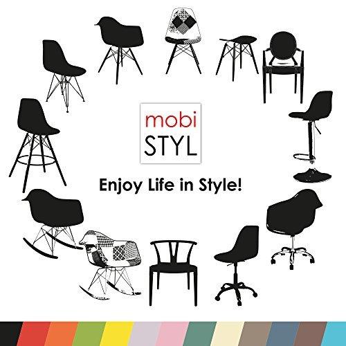 VERKAUF! 4 x Design-Stuhl Eiffel Stil Schwarz Holz Beine und Sitz Farbe Beige Taupe Mobistyl® DAWB-TA-4