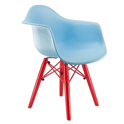 Kid 's DAW Eames Stuhl–blau, rot