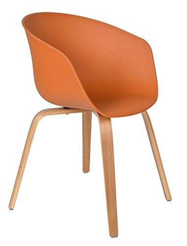 ts-ideen 1x Design Stuhl Wohnzimmer Esstisch Küchen-Tisch Esszimmer Sitz in Braun