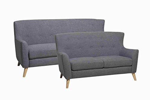 3-Sitzer Sofa SWAN in schwarz Couch Couchgarnitur Wohnlandschaft Retro