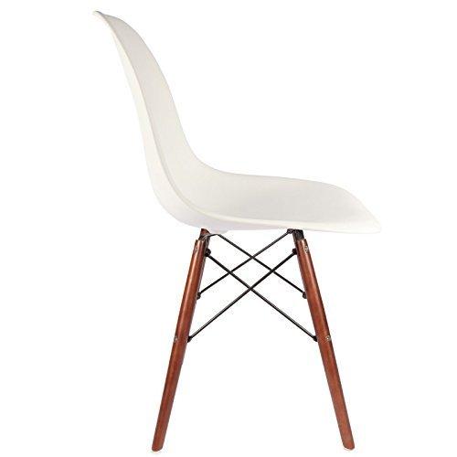 DSW Stuhl Walnuss - Weiß, Walnuss