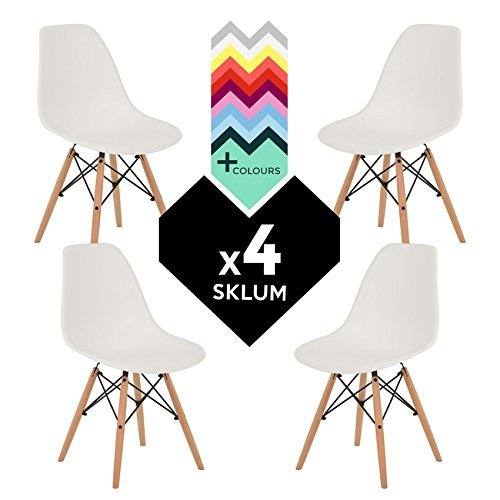 Stuhl Eames DSW (Pack 4)–Stuhl tower wood sklum weiß