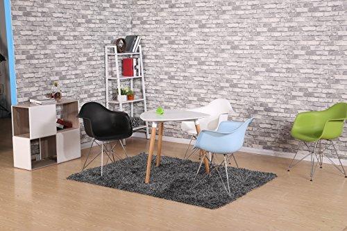Promo 2x Sessel Inspiration Eiffel Füße Stahl chrom Sitzfläche mobistyl® dar-m-2 weiß