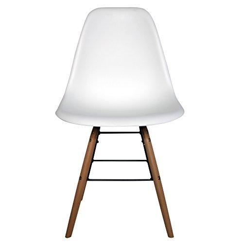 Retro Stuhl Schalenstuhl Pop Art Deco Esszimmer Stühle Plastik Regie Vintage, Farbe:Weiß, Menge:1 Stuhl