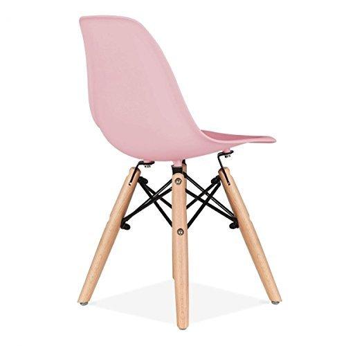 Promo 2x Stuhl Kinder Inspiration Eiffel Füße Holz Sitzfläche mobistyl® dswk-m-2 Pink